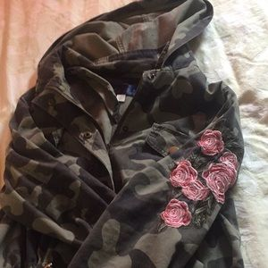 Anorak camo jacket from Francesca's Collections